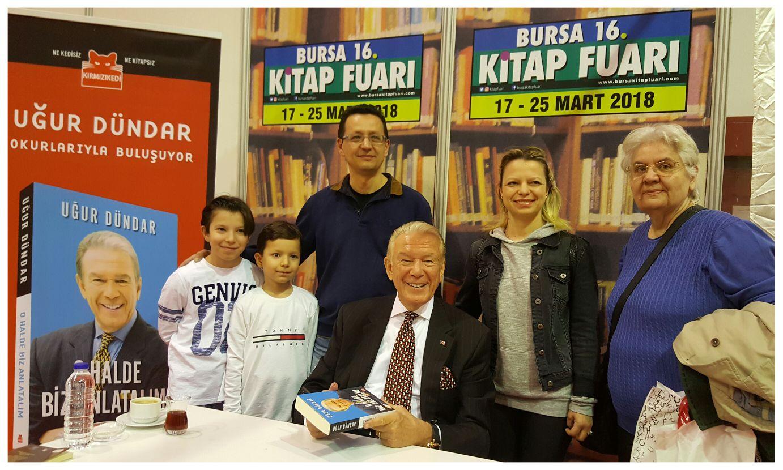Uğur Dündar Bursa'da okurlarıyla buluştu 1