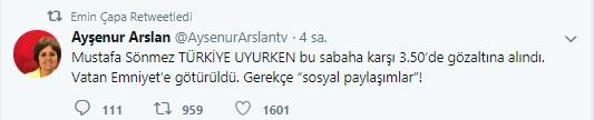 Mustafa Sönmez'in gözaltına alınmasına sosyal medyadan sert tepki 10