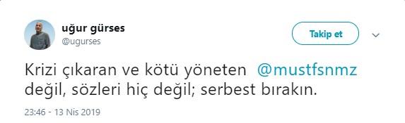 Mustafa Sönmez'in gözaltına alınmasına sosyal medyadan sert tepki 2