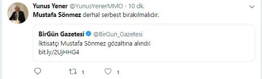 Mustafa Sönmez'in gözaltına alınmasına sosyal medyadan sert tepki 3