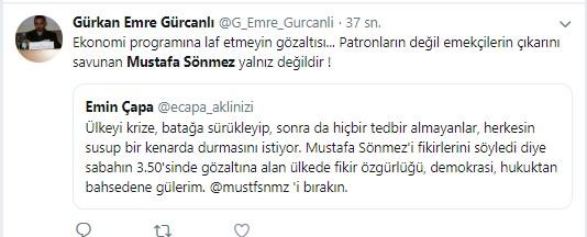 Mustafa Sönmez'in gözaltına alınmasına sosyal medyadan sert tepki 5