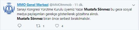 Mustafa Sönmez'in gözaltına alınmasına sosyal medyadan sert tepki 8