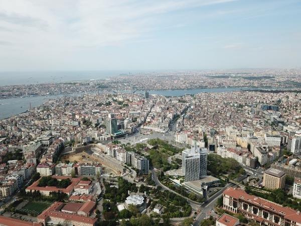 1 Mayıs'ta Taksim havadan böyle fotoğraflandı 1