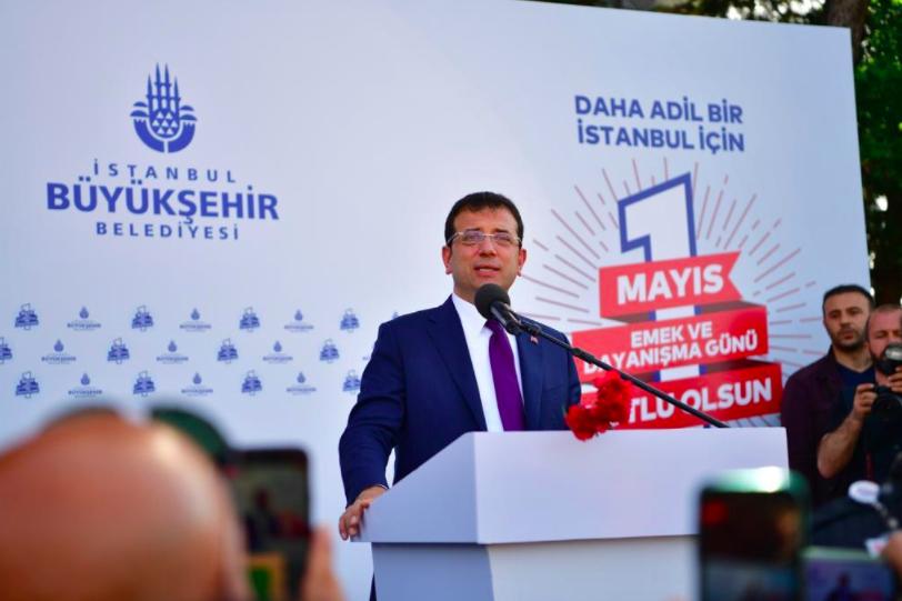 Ekrem İmamoğlu, İBB çalışanlarının 1 Mayıs'ını kutladı 1