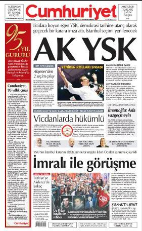 YSK'nın tarihe utanç olarak geçecek kararını gazeteler nasıl gördü? 1