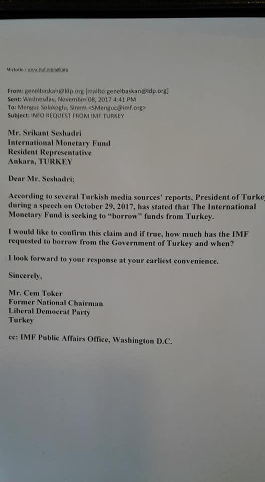 """""""IMF 5 milyar dolar borç istedi"""" açıklamasına IMF'den yanıt!"""
