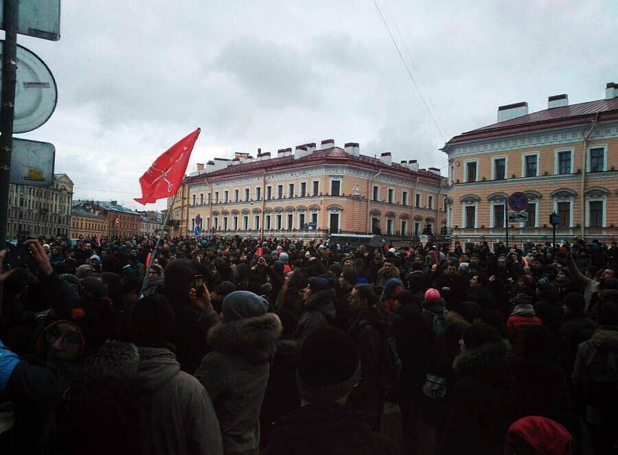 Rusya'da muhalefet lideri Alexei Navalny için destek gösterisi