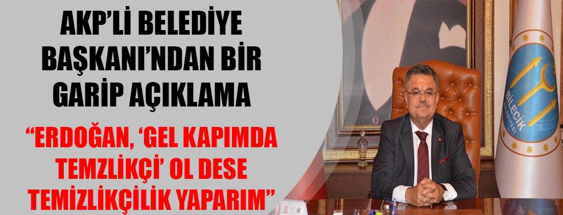 AKP'li Belediye Başkanı Selim Yağcı: Erdoğan'ın kapısında temizlikçi olurum