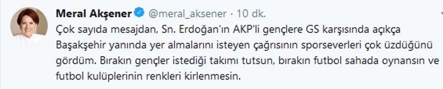 Meral Akşener'den Galatasaray maçı sonrası rekor beğeni alan tweet