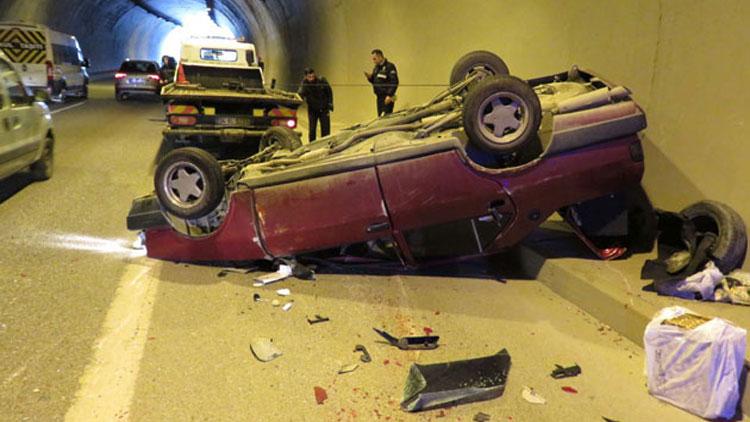 Tünelde zincirleme kaza