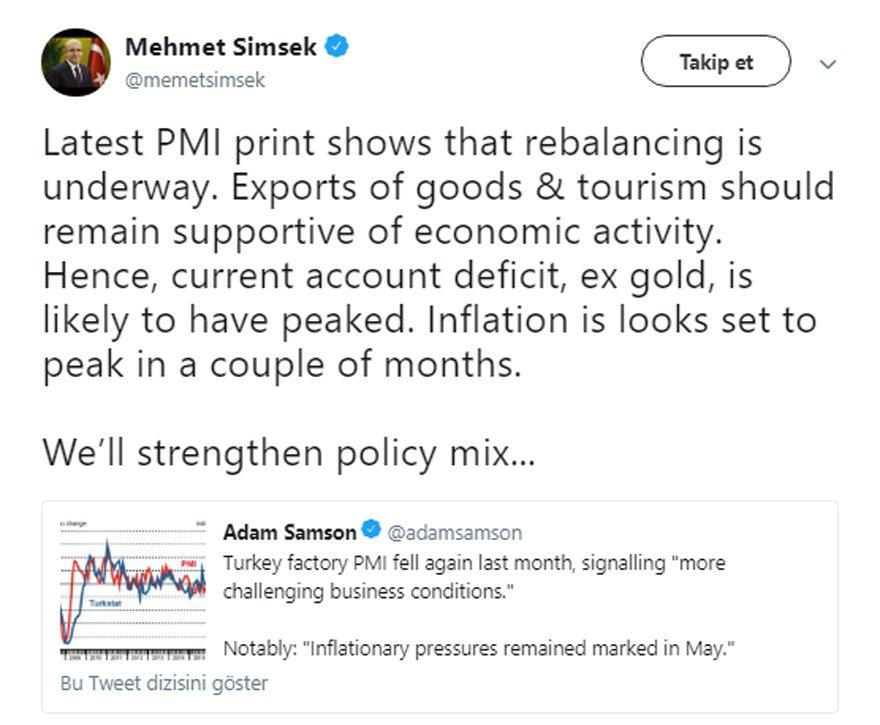 Mehmet Şimşek kötü haberi İngilizce verdi!
