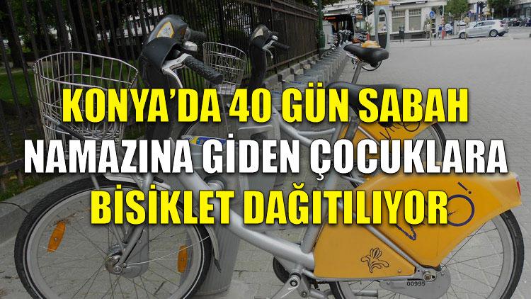 Konya'da 40 gün sabah namazına giden çocuklara bisiklet dağıtılıyor