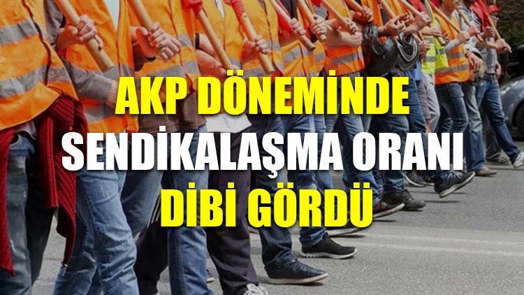 AKP döneminde sendikalaşma oranı dibi gördü