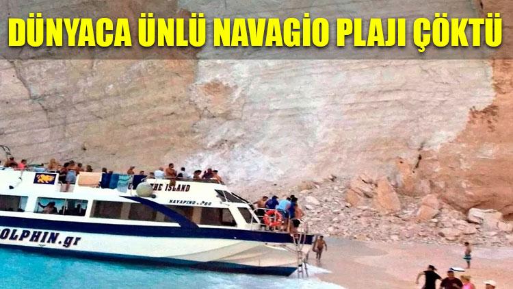 Dünyaca ünlü Navagio plajı çöktü!