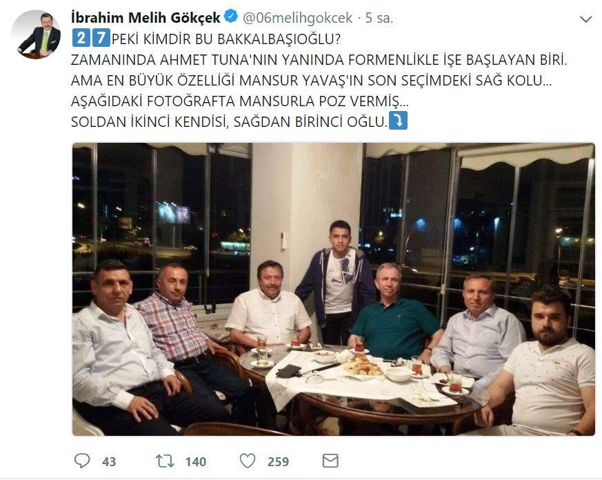Melih Gökçek ile Mustafa Tuna kavgası büyüyor: Seni insan yüzüne çıkamaz hale getiririm!