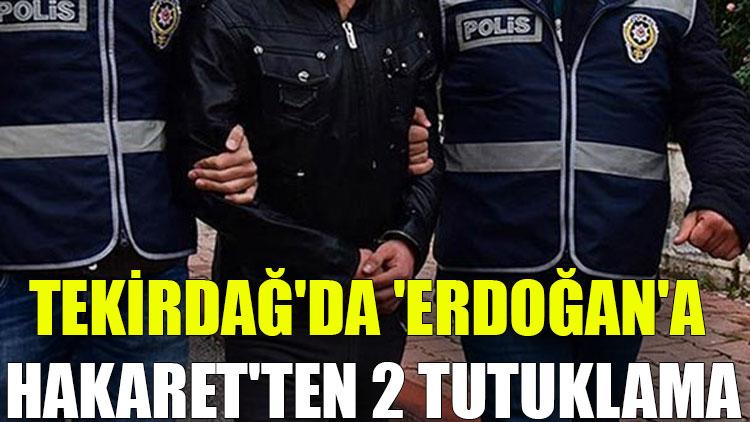Tekirdağ'da 'Erdoğan'a hakaret'ten 2 tutuklama