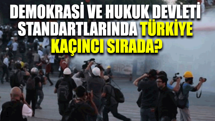 Demokrasi ve hukuk devleti standartlarında Türkiye kaçıncı sırada?