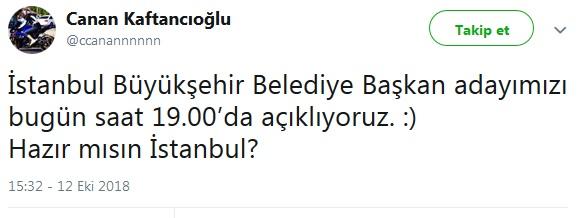 Canan Kaftancıoğlu, İstanbul adayı için saat verdi