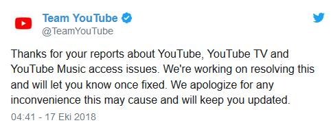 YouTube'a 2 saat boyunca giriş yapılamadı! 911'den yardım istediler