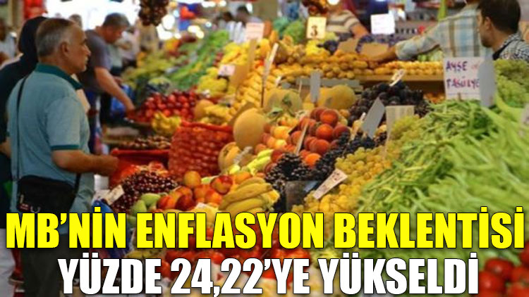 Merkez Bankası'nın enflasyon beklentisi yüzde 24,22'ye yükseldi