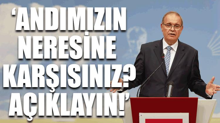 CHP'li Faik Öztrak: Açıklayın 'Andımız'ın neresine karşısınız?