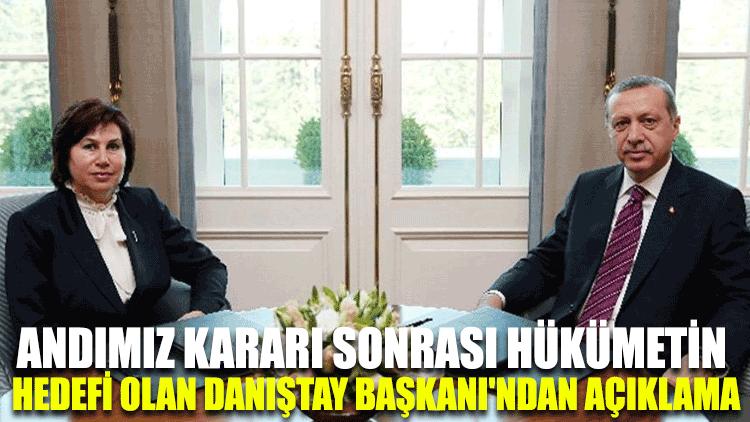 Andımız kararı sonrası hükümetin hedefi olan Danıştay Başkanı'ndan açıklama