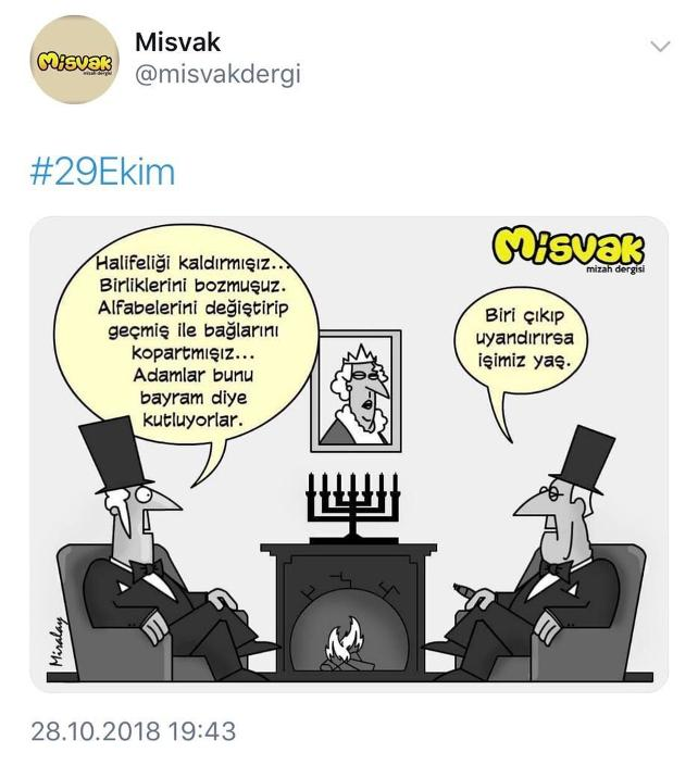 Misvak, Cumhuriyet'i hedef alan karikatürünü sildi