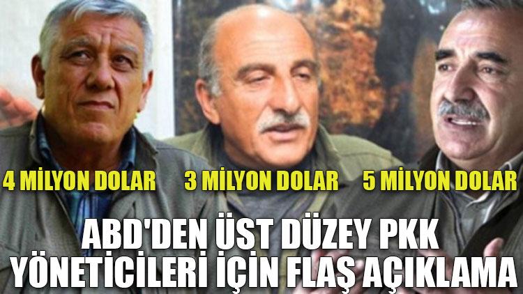ABD'den üst düzey PKK yöneticileri için flaş açıklama