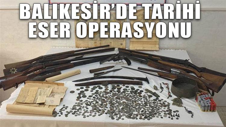Balıkesir'de tarihi eser operasyonu