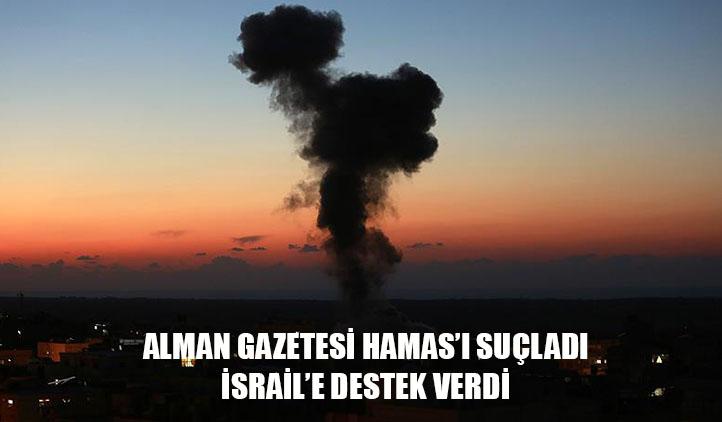 Alman gazetesi İsrail'i savundu: İsrail'e 6 saatte 400 roket atıldı