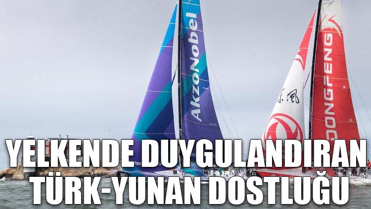 Yelkende duygulandıran Türk-Yunan dostluğu
