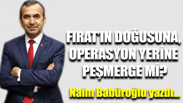 """Naim Babüroğlu yazdı...""""Fırat'ın doğusuna, operasyon yerine Peşmerge mi?"""""""