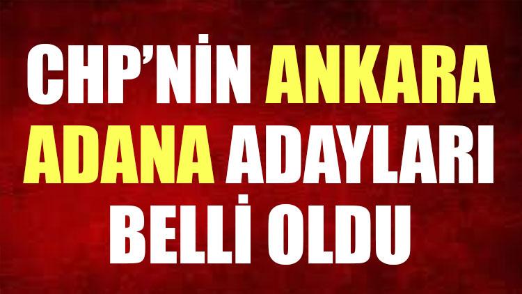 İşte CHP'nin büyükşehir adayları