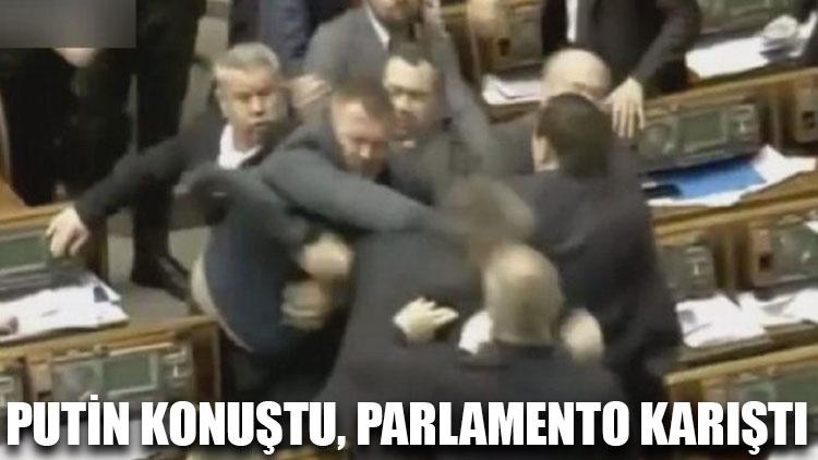 Putin konuştu, parlamento karıştı…