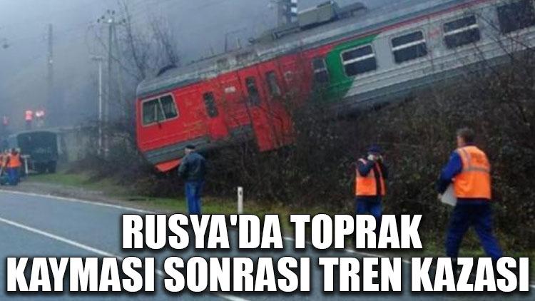 Rusya'da toprak kayması sonrası tren kazası meydana geldi
