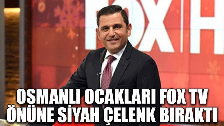 Osmanlı Ocakları FOX TV önüne siyah çelenk bıraktı