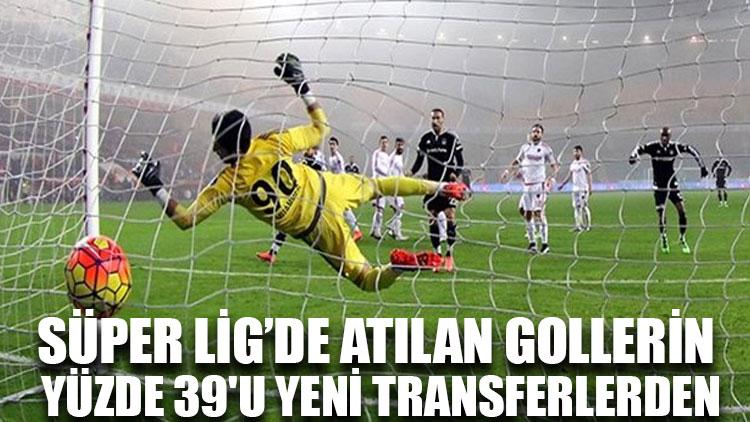 Süper Lig'in ilk yarısında atılan gollerin yüzde 39'u yeni transferlerden