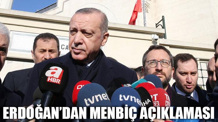 Cumhurbaşkanı Erdoğan'dan Menbiç açıklaması
