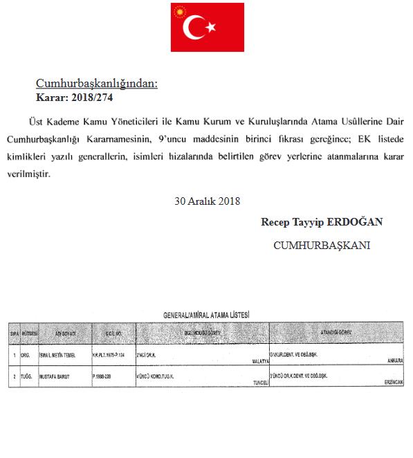 Erdoğan'ı alkışlayan komutan İsmail Metin Temel görevden alındı