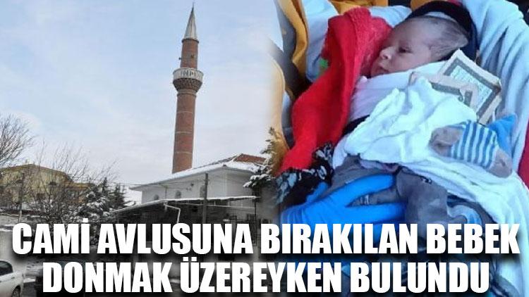 Cami avlusuna bırakılan bebek, donmak üzereyken bulundu