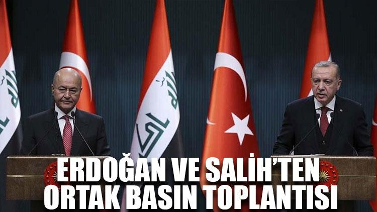 Erdoğan ve Salih'ten ortak basın toplantısı