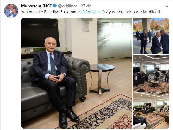 Muharrem İnce'den Fethi Yaşar'a ziyaret