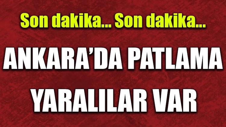Ankara'da patlama: 2'si polis 5 yaralı