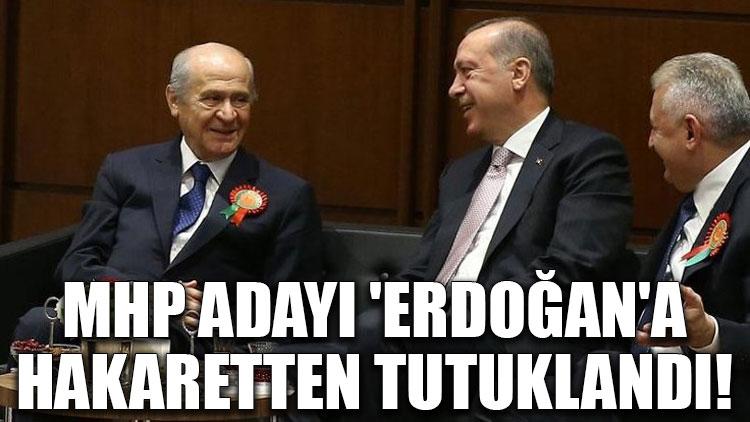 MHP adayı 'Erdoğan'a hakaretten tutuklandı!