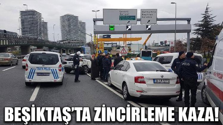 Beşiktaş'ta zincirleme kaza!