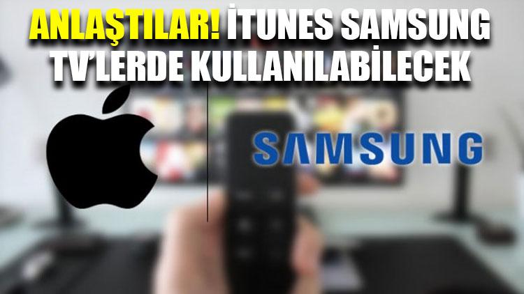 Apple ve Samsung anlaştı: iTunes Samsung TV'lerde kullanılabilecek