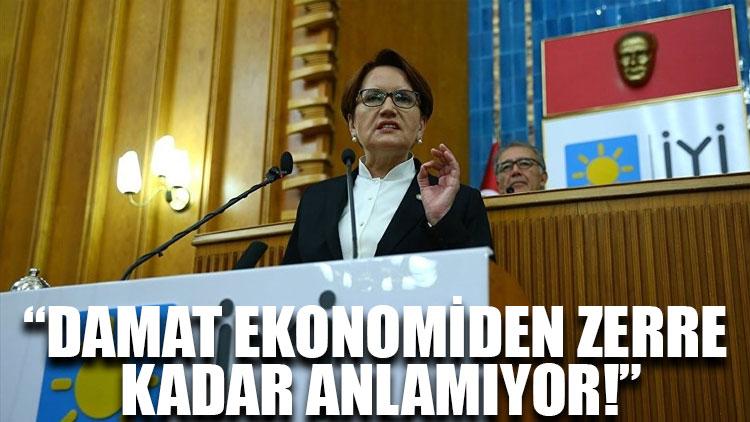 Meral Akşener: Damat ekonomiden zerre kadar anlamıyor!