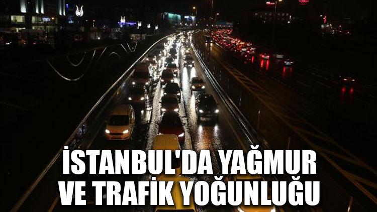 İstanbul'da yağmur ve trafik yoğunluğu