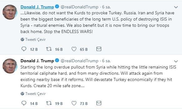 Trump'tan skandal Türkiye açıklaması