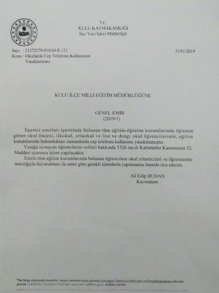 Okullara telefon yasağı: Velilere para cezası uygulanacak